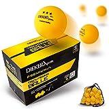 Dieker Sports® Premium Tischtennisbälle 3 Stern [42 Stück + Tasche] - inkl. Videokurs - erstklassige Spieleigenschaften - Nach ITTF Wettbewerbsrichtlinien - Perfekt für Anfänger, Profis und Familien
