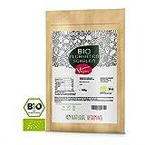 NATURAL VITAMINS® Bio Flohsamenschalen I Premium Qualität: 99+% Reinheit zertifiziert I 100% natürlich, vegan, ohne Zusätze I nachhaltig angebaut I Aromaschutzbeutel wiederverschließbar I 500g