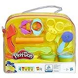 Hasbro Play-Doh Starter Set mit 9 Werkzeugen und 4 Dosen Knete, Kreativset für unterwegs