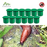 Gardigo Schnecken-Falle 12er Set I Bio Schneckenschutz für den Garten I Umweltfreundliche Schneckenbekämpfung I Deutscher Hersteller
