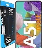 [2 Stück] Entspiegelte 3D Schutzfolien kompatibel mit Samsung Galaxy A51 - [Made in Germany - TÜV NORD] - Displayschutz-Folie - Hüllenfreundlich – Matt – kein Schutz-Glas - Panzer-Folie TPU