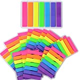 2240 Stück 16 Sets Haftmarker Film Haftnotizen Haftstreifen Page Marker Tab Marker Index Tabs Index Sticky Notes Beschreibbar Bunt für Seitenmarkierung 7 Farbe