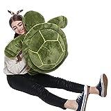 DOLDOA 65 cm Plüsch Schildkröte X-Large Weiche Schildkröte Stofftier Kuscheltiere Turtle Plüschtiere Geburtstagsgeschenk für Kinder - Grün
