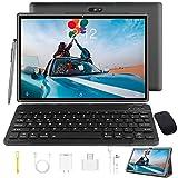 Tablet 10 Zoll Android 9.0 Tablet PC Mit Tastatur 4G LTE SIM, 3 GB RAM + 32 GB ROM, Quad-Core-Prozessor, GMS-Zertifizierung, 8000 mAh, 1080p Full HD IPS-Display, WLAN / Bluetooth / GPS Windows Tablet