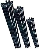 Werkzeyt Kabelbinder-Sortimtent - schwarz - Diverse Größen im Set - 75 Stück - Wiederverwendbar - Polyamid - UV-beständig / Kabelbinder-Set / Kabelverbinder / B20451