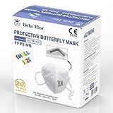 AUPROTEC 20 Stück FFP2 Maske MINI Atemschutzmaske EU CE 0370 Zertifiziert EN149:2001+A1:2009 Mundschutz 4 lagig mit innen liegendem Vlies einzeln verpackt