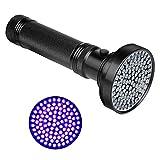 Veetop Schwarzlichtlampe UV Taschenlampe mit 100 UV LEDs 395nm Schwarzlicht Superstrahlend Robust und Wasserfest