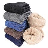 Aiglam Thermosocken Herren,6 Paare Socken Warm Herren Winter Socken Super Weiche Dicke Warme Socken,Premium Qualität(38-46) (Mehrfarbig)