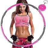 Aoweika Hula Hoop zur Gewichtsreduktion,Reifen mit Schaumstoff ca 1 kg mit Mini Bandmaß, Einstellbares Gewicht 19-35 in Gewichten beschwerter Hula-Hoop-Reifen für Fitness
