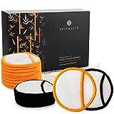 10 Beste Qualität Abschminkpads Waschbar aus Bambus + Wäschebeutel | Waschbare Abschminkpads | Wiederverwendbare Abschminkpads für alle Hauttypen | Wiederverwendbare Wattepads | SkinWorld