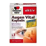 Doppelherz Augen Vital Kapseln mit Lutein + Zeaxanthin – Nahrungsergänzungsmittel mit Vitamin A und Zink – 30 Kapseln