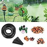 FIXKIT 30M Bewässerung Kit, Bewässerungssystem, geeignet für Gartenbewässerung und DIY, mit automatischem Sprinkler