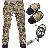 H Welt EU Militär Armee Taktische Airsoft Paintball Schießen Hosen Kampf Männer Hosen mit Knie Pads, Gr.-M/ W-32, Multicam