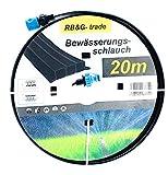 Bewässerungsschlauch Beregnungsschlauch / Sprühregner 20 m, anschlussfertig ausgestattet, schwarz, individuell verkürz- oder verlängerbar
