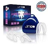 DERMATEST: SEHR GUT - jinoo ® Aufbissschiene - [4x] Zahnschutz gegen Zähneknirschen - mit praktischer Aufbewahrungsbox - inklusive Anleitung