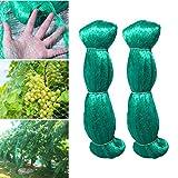 Hywean 2 Stücke 2 x 5 m Vogelschutznetz Baumnetz schützt Obstbäume vor Vogelfraß, Gartennetze Maschenweite 15 x 15 mm, Grün