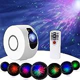 Sternenhimmel Projektor, LED Galaxy Sternenhimmel Projektor mit Fernbedienung Nebelwolken, 15 Modi Nachtlicht 7 Farben Projektorlampe für Erwachsene Baby Kinder Schlafzimmer Heimkino Party(Weiß)