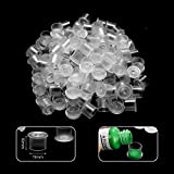 ATOMUS 300Pcs Tattoo Ink Cups with Base Pigment Cups S Ink Container for Tattoo Kit Tattoo Supplies