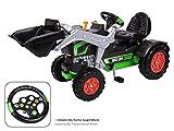 BIG Jim-Turbo Kinderfahrzeug Traktor Grün - Hochwertiger Trettraktor für Jungen und Mädchen ab 3 Jahren - Kinderauto mit Sound Lenkrad - Made in Germany