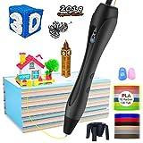 3D Stift für Kinder,OLICTAR 3D Druckstift mit 12 Farben 1,75mm 120ft PLA Filament LCD Display 3D Stifte für Kinder,Erwachsene,alle Jahre Anfänger (Schwarz-01)
