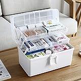 TopBau TopBau Hausapotheke Box 3 schicht Groß Medizinschränke Abschließbar Medikamentenbox Medizinbox Medikamenten Box Aufbewahrungsbox für Hause und Urlaub