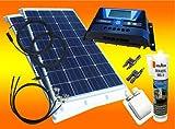 bau-tech Solarenergie 200Watt WoMo Solaranlage Komplettpaket für Wohnmobile, Boote, Camping u.v.m GmbH