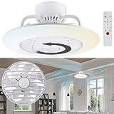 Sichler Haushaltsgeräte Ventilator Lampe: 2in1-Deckenleuchte & Ventilator mit Fernbedienung, Variable Lichtfarbe (Deckenlampe mit Ventilator)