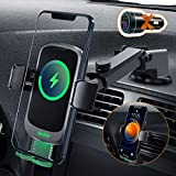 Auckly 15W Fast Qi Wireless Charger Auto,[Versteckte Automatisch] Auto Handyhalterung Mit Ladefunktion Induktion Motor Qi Ladestation Auto Kfz Handy Halterung Lüftung für iPhone Samsung Huawei usw