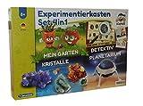 Clementoni 4in1 Experimentierkasten Mein Garten Kristalle Planetarium Detektiv