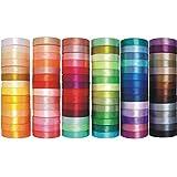 Satinband 3mm / 6mm / 12mm / 25mm / 38mm / 50mm; 32m / 91m Schleifenband Dekoband Hochzeit Geschenkband Karten, 84 Farben