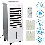 4in1 Arebos Aircooler   4,5 Liter   Mobiles Klimagerät   Luftreiniger   Ventilator mit Fernbedienung   Luftkühler   Timer   4 Stufen