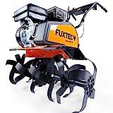 FUXTEC Benzin Gartenfräse FX-AF1212 Motorhacke Ackerfräse Bodenfräse Bodenhacke Kultivator mit Räder, mit 212cc Hubraum und bis zu 85cm Arbeitsbreite - Test in der Oberklasse mit Note 1,4