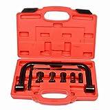 LARS360 Universal 9 teilig Ventilfeder Spanner Federspanner Ventilfederspanner Kompressor Kit Spannapparat Werkzeug für Motoren und Motorräder mit Koffer