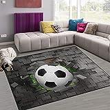 Naanle Fußball Rutschfeste Bereich Teppich für Dinning Wohnzimmer Schlafzimmer Küche, 50x 80cm (7x 2,6m), Kinderzimmer-Teppich, Teppich Yoga-Matte, Multi, 150 x 200 cm(5' x 7')