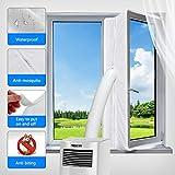 Aozzy Fensterabdichtung für Mobile Klimageräte und Ablufttrockner, AirLock 100 klimaanlagen fensterabdichtung, Hot Air Stop zum Anbringen an Fenster, Dachfenster (Fenster 400CM, Weiß)