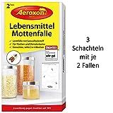 Aeroxon - Lebensmittelmottenfalle - Geeignet zur Mottenbekämpfung und als Mottenschutz - 6 Fallen