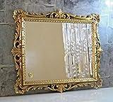 Artissimo Wandspiegel Gold Ornamente Barockspiegel Friseurspiegel Flurspiegel Mirror 43x37