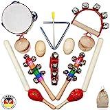 SCHMETTERLINE Musikinstrumente-Set für Kinder aus Holz - 15 TLG. Musik-Spielzeug mit Premium Rhythmus-Instrumenten ab 3 Jahre für eine begeisternde musikalische Rhythmus-Früherziehung