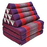 wifash Thaikissen Kapok Bodenkissen Dreieckskissen Nackenkissen Liegematte Sitzkissen Lounge ***violett-rot*** Verschiedene Modelle und Größen erhältlich ***Handmade*** (Kissen 3 Auflagen (81503))