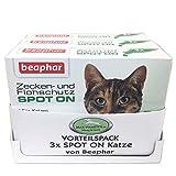 MAX HAMSTER Vorteilspack: 3X Zecken- und Flohschutz Spot ON für Katzen von Beaphar natürlicher Schutz mit Margosa Extrakt = 9 Pipetten á 0,8ml