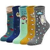 PUTUO Dicke Socken Damen Warme Thermosocken Frauen Winter Bunte Stricksocken, Wintersocken Lustige Socken Damen Thermo Socken mit Innenfrottee
