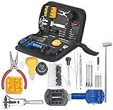 AGT Uhrmacherwerkzeug: 19-teiliges Uhrmacher-Werkzeug-Set zur Uhren-Reparatur & -Wartung (Uhrmacher Werkzeugset)