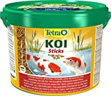 Tetra Pond Koi Sticks – Koifutter für farbenprächtige Fische und eine verbesserte Wasserqualität, 10 Liter