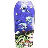Lively Moments Bodyboard 104 cm/Body Board/Surfboard/Schwimmbrett 3 Delfine mit Sonnenbrillen