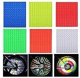 YUESEN Speichenreflektoren 72 Stück Reflektierende Speichensticks Fahrrad Reflektoren Speichenreflektoren Reflektierende Clips für Fahrrad(6 Farben)