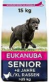 Eukanuba Hundefutter mit frischem Huhn für große Rassen, Premium Trockenfutter für Senior Hunde, 15 kg