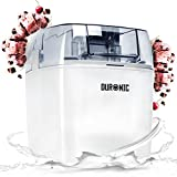 Duronic IM540 Eismaschine - Gefrierbehälter mit 1,5 L Fassungsvermögen – fertiges Dessert in 15-30 Minuten –- Speiseeismaschine/Speiseeisbereiter für Eiscreme, Sorbet, Frozen Joghurt