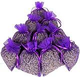 teevendo 10x Duftsäckchen Lavendelsäckchen EXTRA VIEL gefüllt mit je 20g französischen Lavendelblüten im Organzasäckchen (mit insgesamt 200 Gramm) - für den Kleiderschrank Mottenschutz