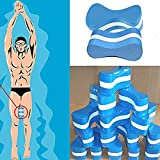 UxradG, Pull-Buoy-Schwimmhilfe aus Schaumstoff, verbessert Schwimmhaltung und stärkt die Armmuskulatur; Schwimm-Trainings-Hilfe für Erwachsene, Senioren, Kinder, blau