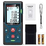 Entfernungsmesser, HANMATEK LM50 50M Digitales Laser Entfernungsmesse mit LCD Hintergrundbeleuchtung M/In/Ft mit Mehreren Messmodi wie Pythagoras/Abstand/Fläche/Volumen Messungen,IP54
